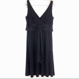 Maggy London Black Midi Dress Sz 12